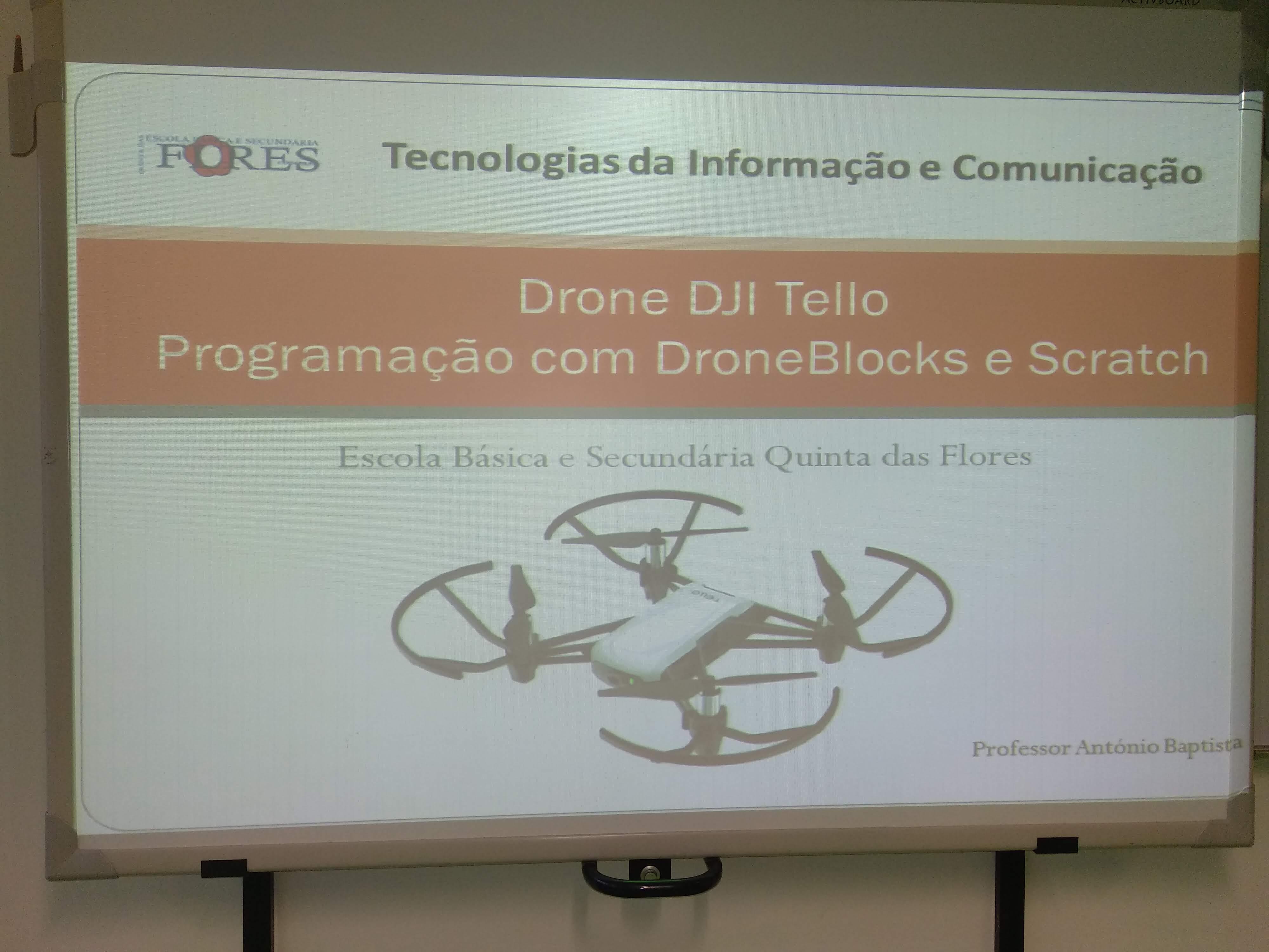 Escola Básica e Secundária Quinta das Flores ensina alunos a programar Drones