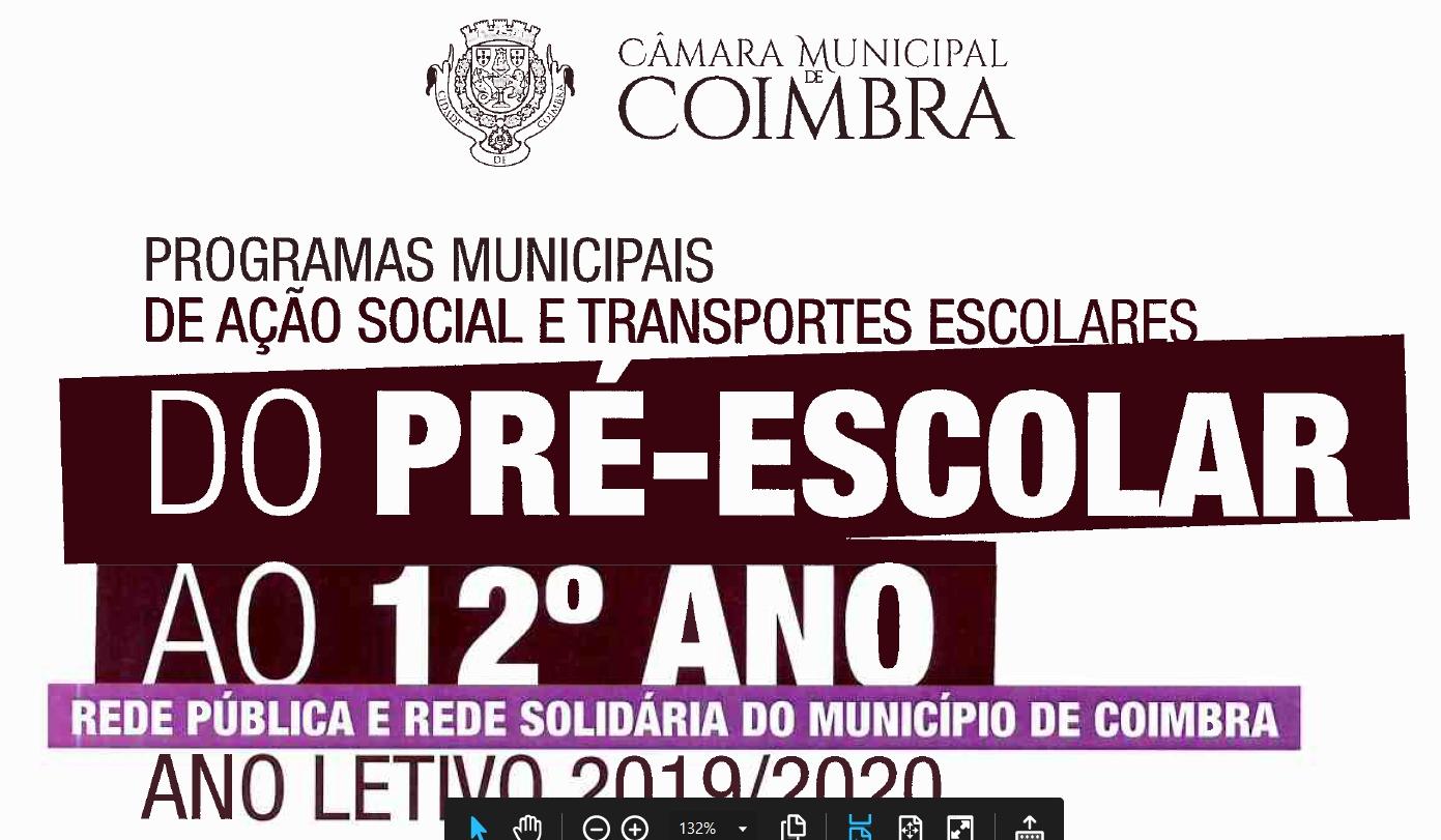 Programas Municipais de Ação Social e Transportes Escolares