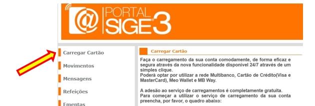Carregamento de cartões por MB