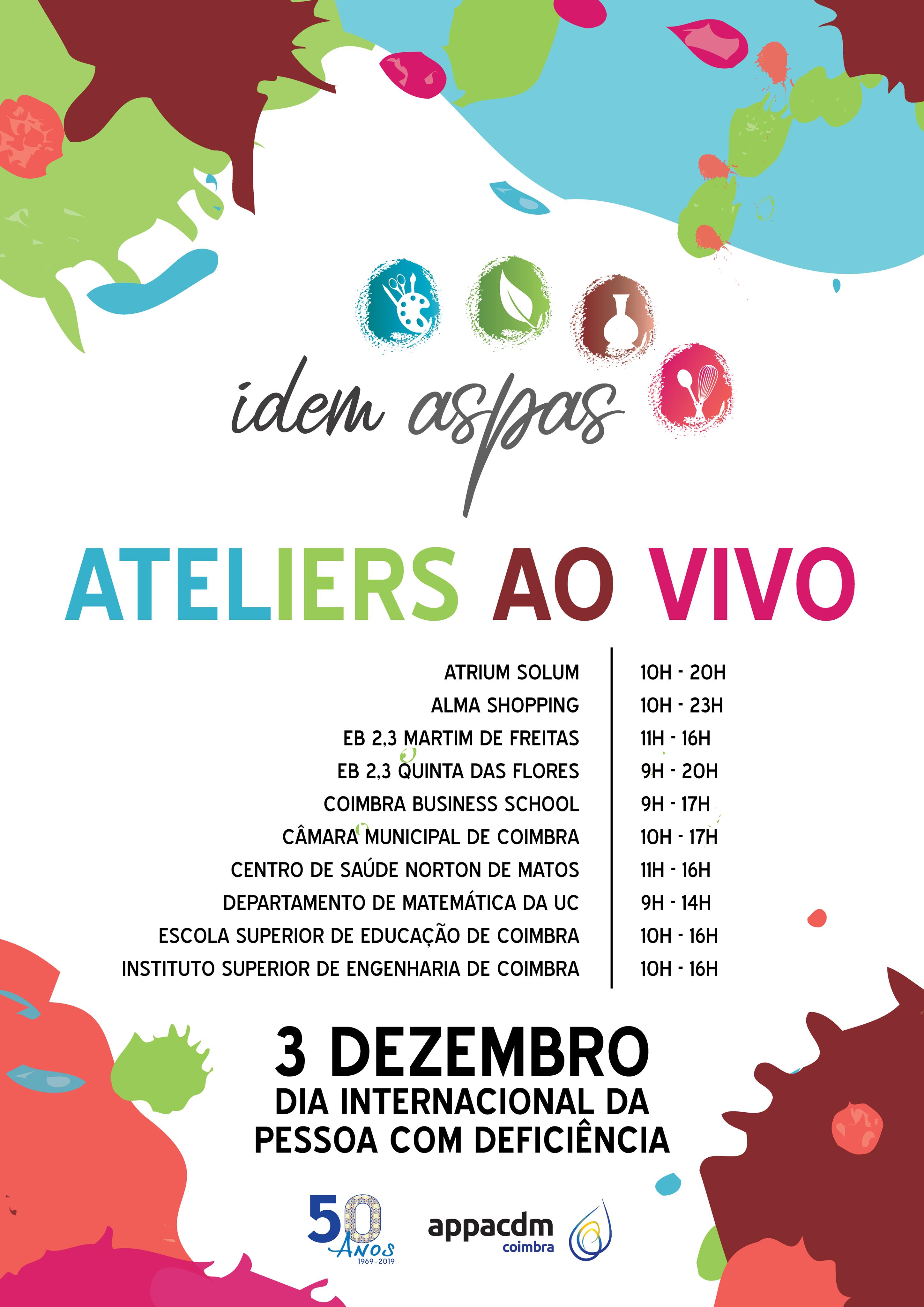 Dia internacional da pessoa com deficiência – Ateliers ao vivo