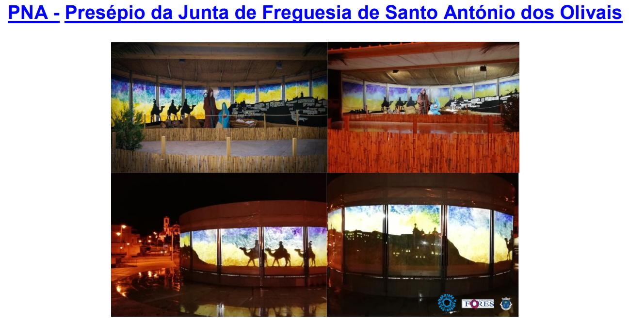 Colaboração na realização do Presépio de S. António dos Olivais