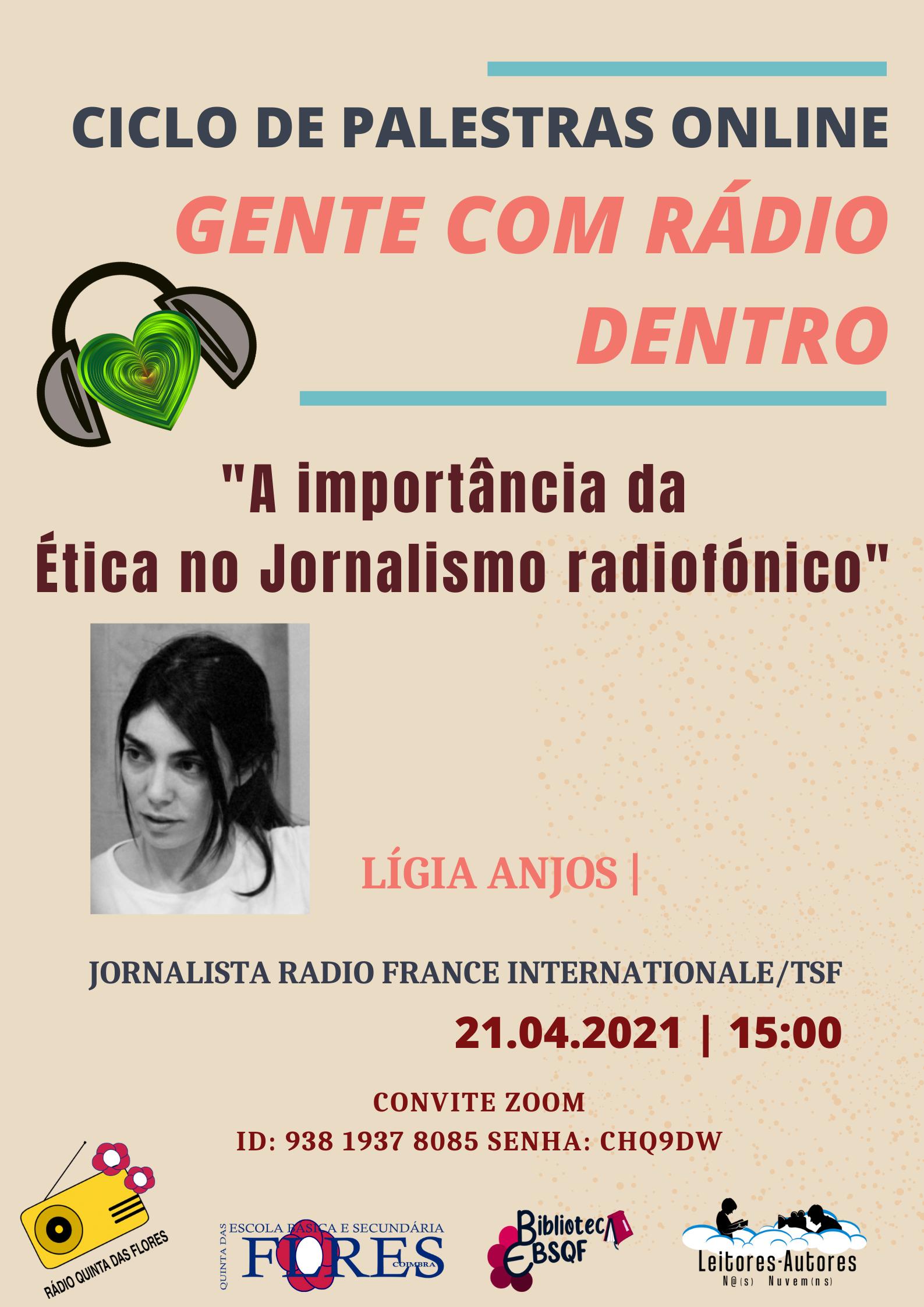 Palestra online – A importância da ética no jornalismo radiofónico