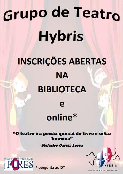 Inscrições para o grupo de teatro Hybris